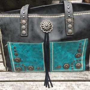 Montana West tooled leather bag